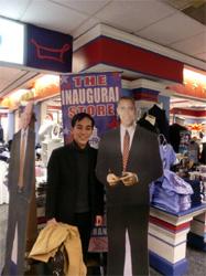 オバマ大統領と記念撮影?